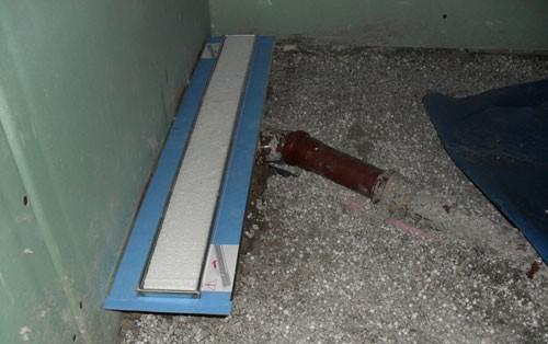 Horizontaler Abflussanschluss ohne Rücksicht auf den Fußbodenaufbau